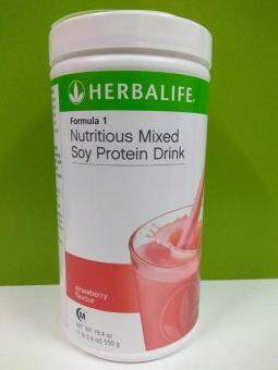 Herbalife formula 1 Strawberry Canister 550g (Ready stock) 100% Original