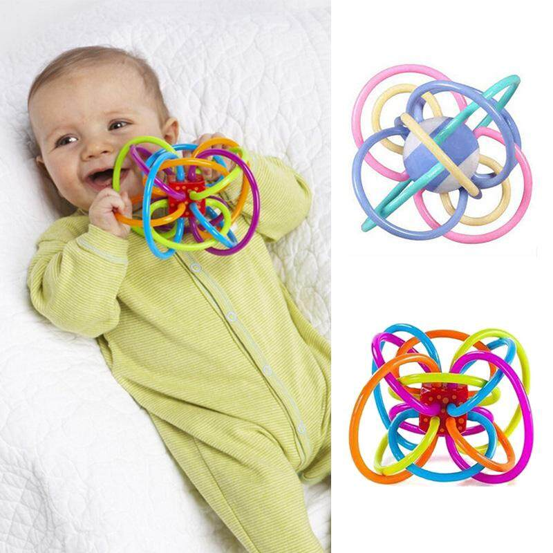 Baby Toys Colorful Rattle Ball Kids For Little Children Hand Develop Bell
