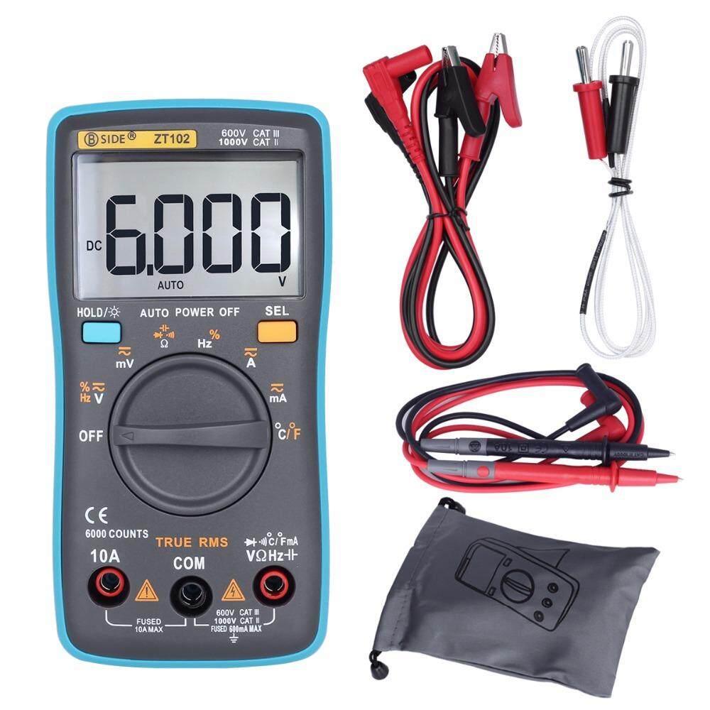 Otomatis Rentang Multimeter Digital ZT102 6000 Hitungan AC/DC Voltmeter Amper Meter Meter Rendah Indikasi Voltase Meter Portable RM102