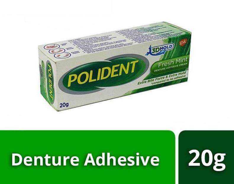 Polident Denture Adhesive Cream (20g) Fresh Mint