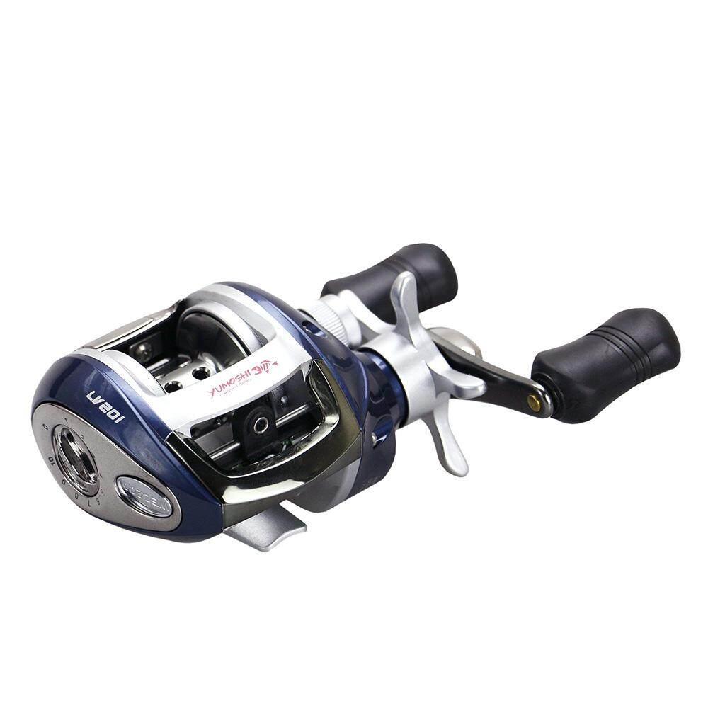 12+1 BB Ball Bearing 6.2:1 Bait Casting Fishing Reel One-way Clutch Baitcasting Reel Left Hand Fishing Reel Magnetic Brake Lure Fishing Reel - intl