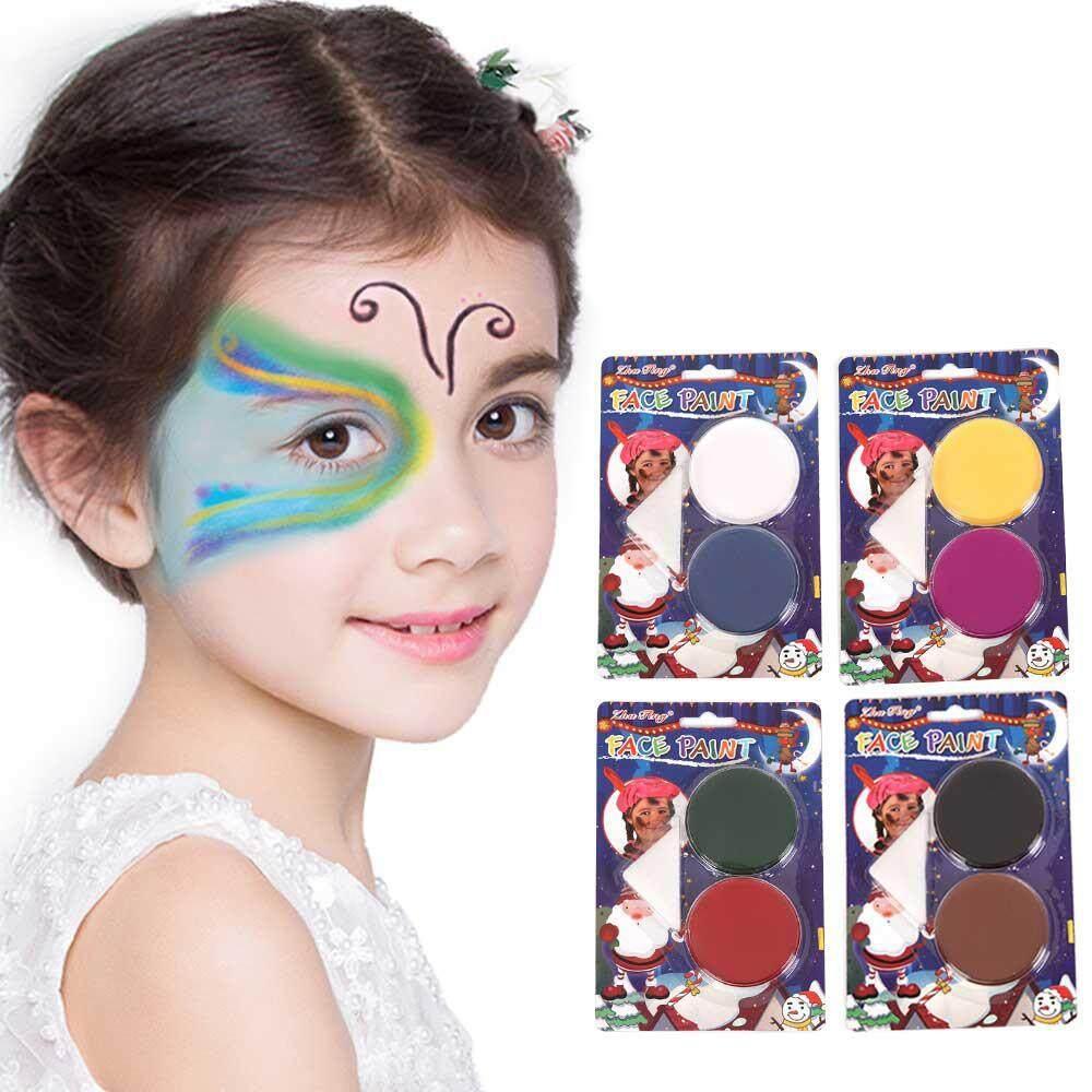 Fortunet ชุดระบายสีใบหน้าพร้อมฟองน้ำ - เส้นผ่านศูนย์กลาง 5.8 เซนติเมตร (2.3 นิ้ว), สีทาใบหน้าร่างกายภาพวาดสีน้ำมันสำหรับเด็ก, ล้างทำความสะอาดได้ศิลปะเพื่อความงามปลอดสารพิษ, น้ำและ Easy On By Fortunet.