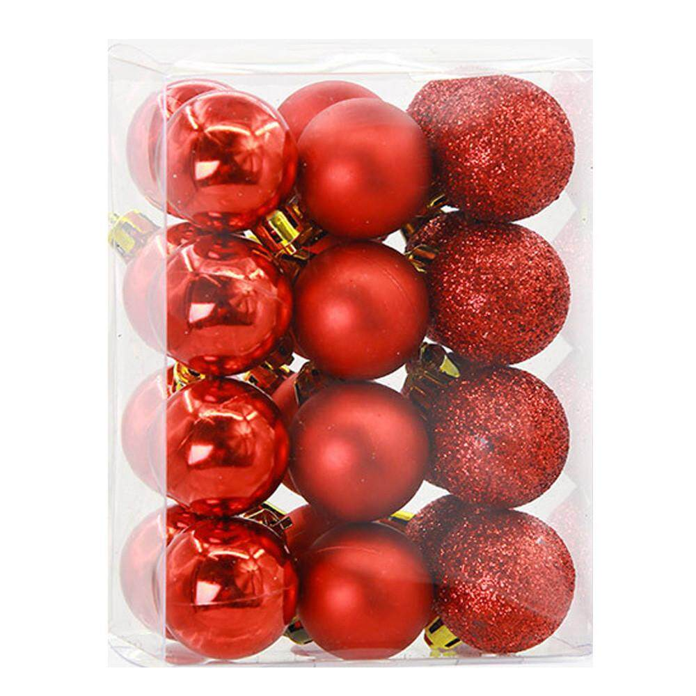 24pcs christmas balls baubles party xmas tree decorations hanging ornament decor