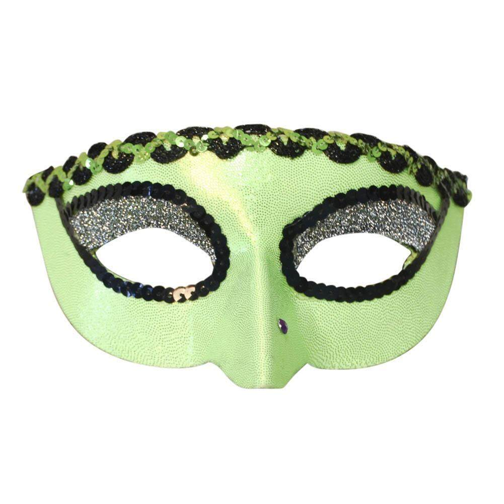Half Face Plastic Sequins Mask Women Halloween Cosplay Masquerade Party Props