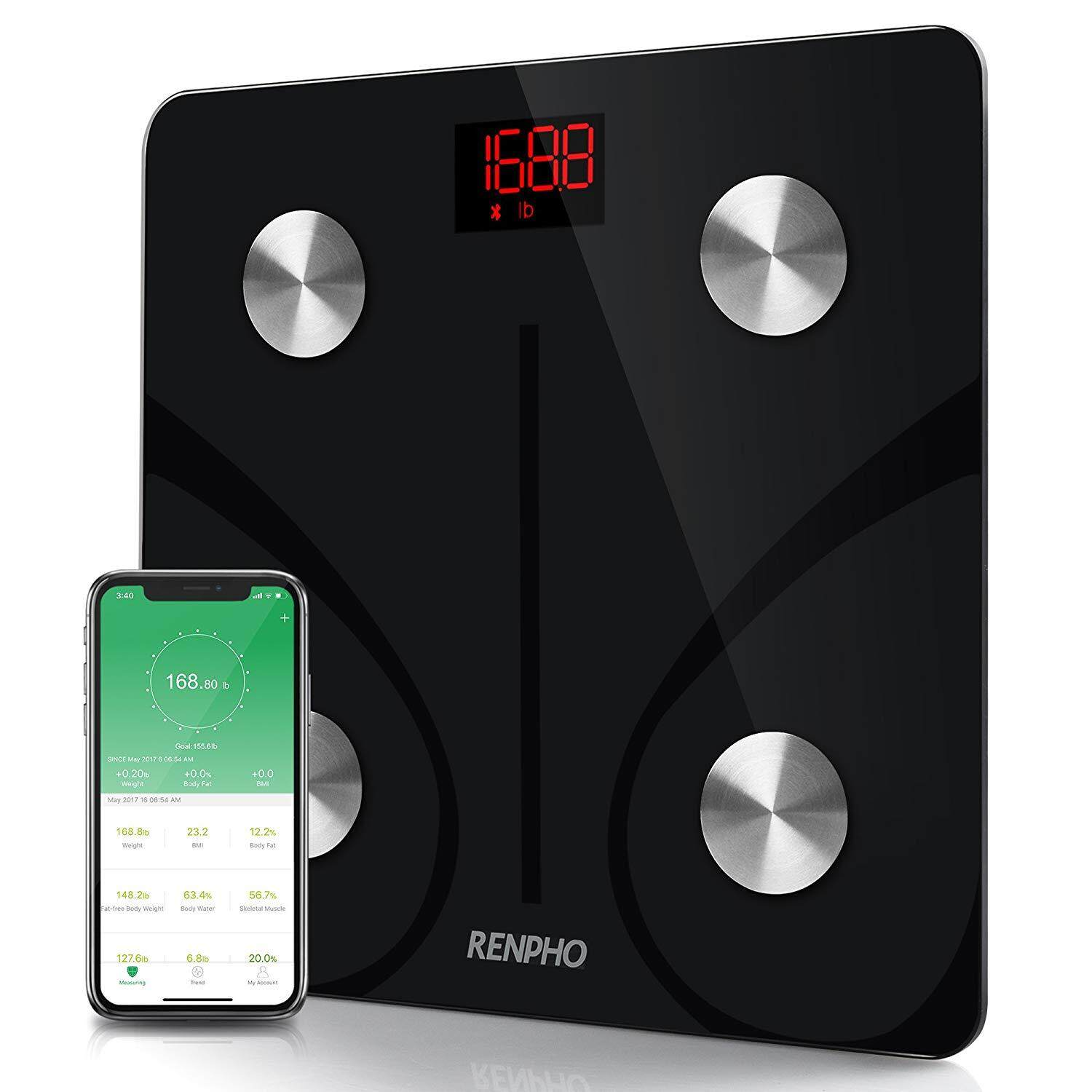 RENPHO Bluetooth Body Fat Scale - FDA Approved - Smart BMI Scale Digital Bathroom Wireless Weight Scale, Body Composition Analyzer with Smartphone App, 396 lbs