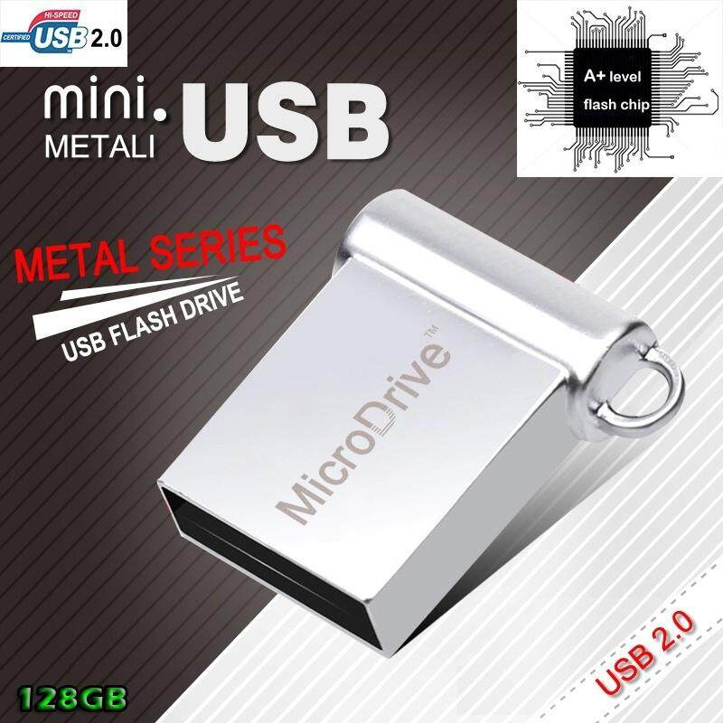 HOT SALE Newest large capacity Metal Super Mini Tiny unique USB Flash Drive Pen Drive USB2.0 Memory Stick 128GB U Disk - intl