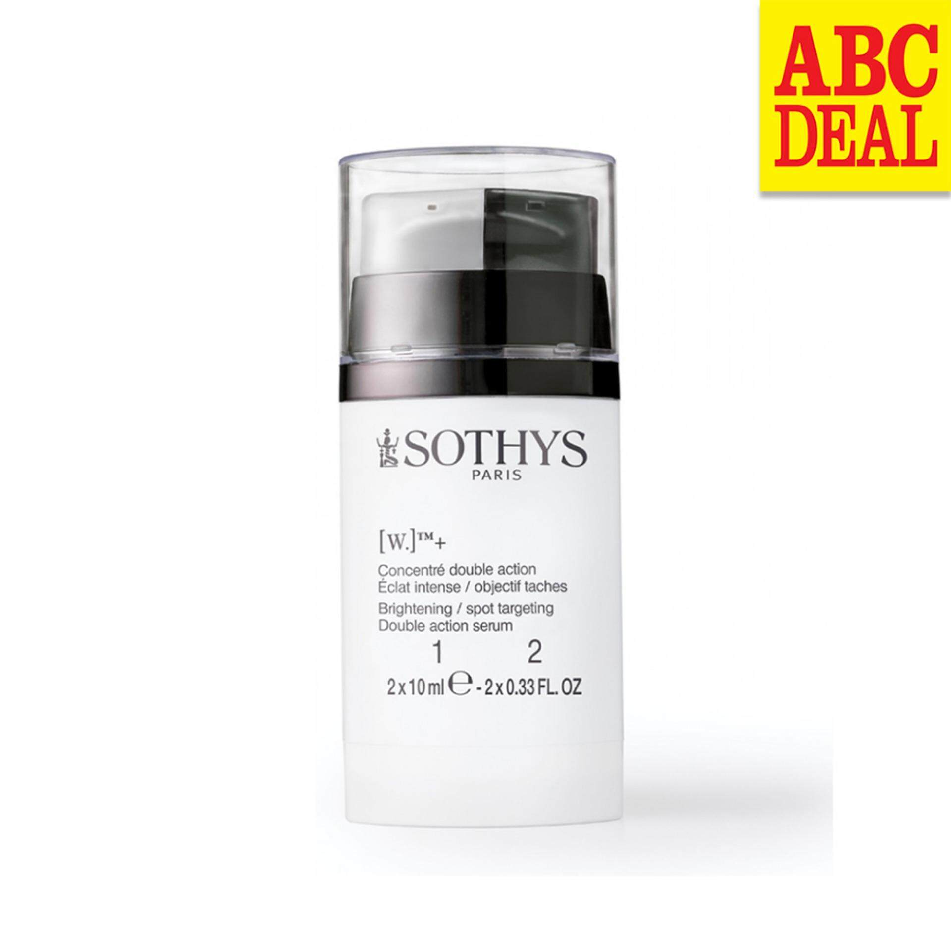 SOTHYS [W.]™+ Brightening Spot Targeting Double Action Serum – 10ml x 2 with 5 Free Authentic Sothys Samples (Random)