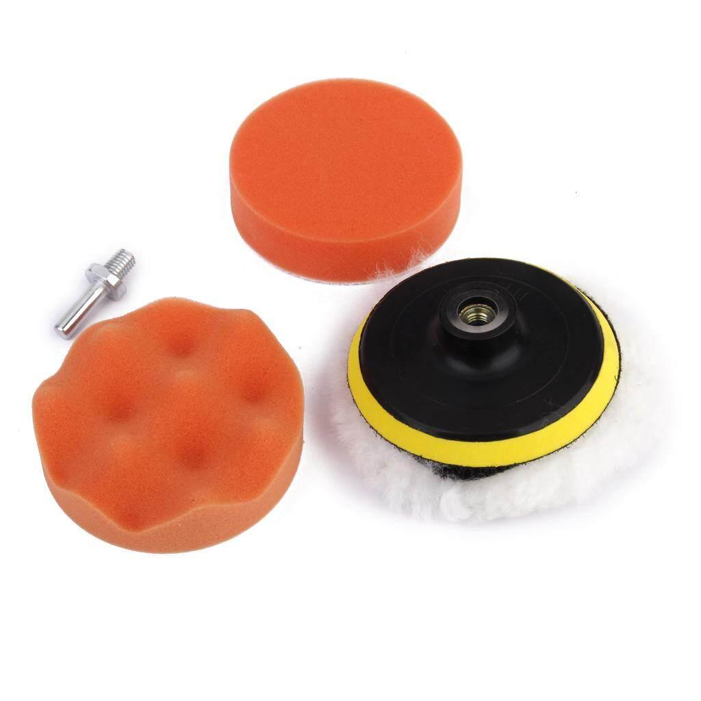 Hình ảnh MagiDeal 5pcs 4 inch Drill Thread Sucker Wool Cleaning Polishing Sponge Buffing Pad