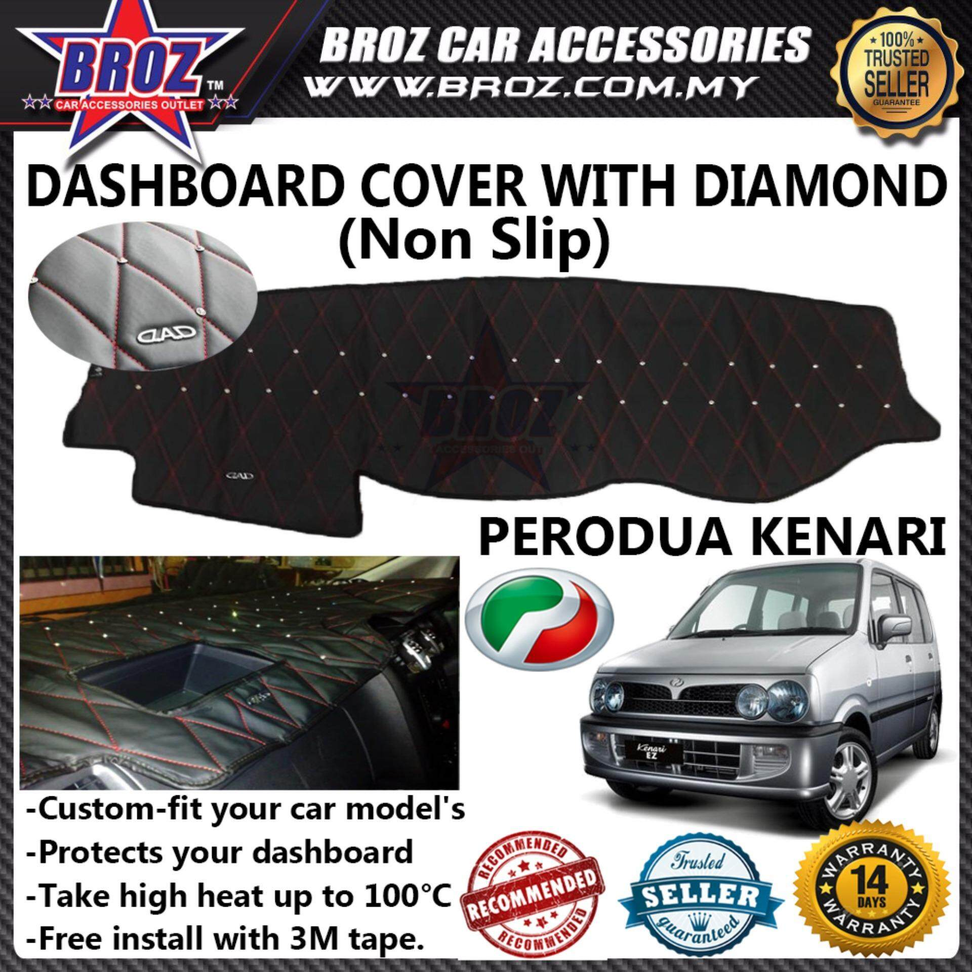 Non Slip Dashboard Cover with diamond for Perodua Kenari