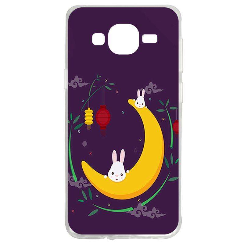 Moon Rabbit TPU Soft Silicon Phone Case Cover For Samsung Galaxy J2 2016 J210