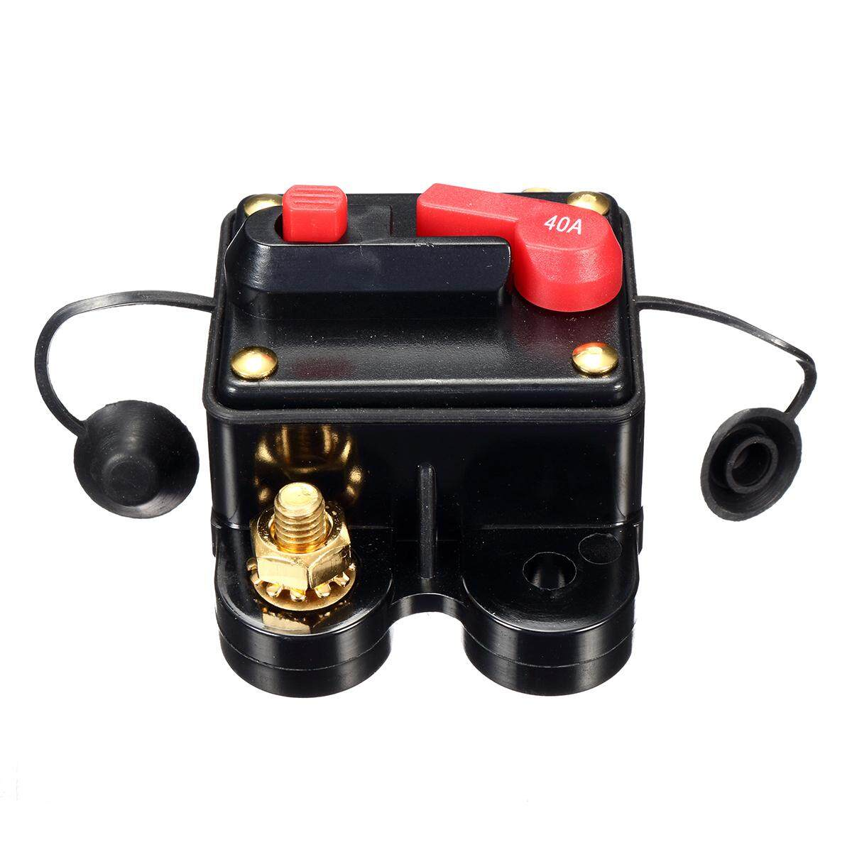 4pcs Cwaterproof 40 Amp Manual Reset Circuit Breaker 12v/24v Car Auto Boat Fuse By Glimmer.