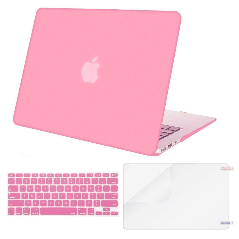 Macbook Plastik Kulit Sarung Keras dengan Penutup Papan Ketik dengan Pelindung Layar Kompatibel MACBOOK AIR 13 Inch (Model: A1369 dan A1466) rilis 2018/2017/2016/2015/2014/2013/2012 (Versi Terbaru)
