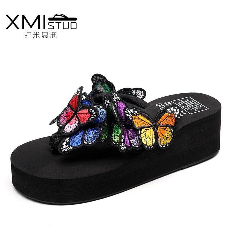 Baru Sandal Buatan Tangan Sandal Kupu-kupu Trendi Ringan Modis Berpori dan Nyaman Sandal Tebal Sandal Wanita-Intl