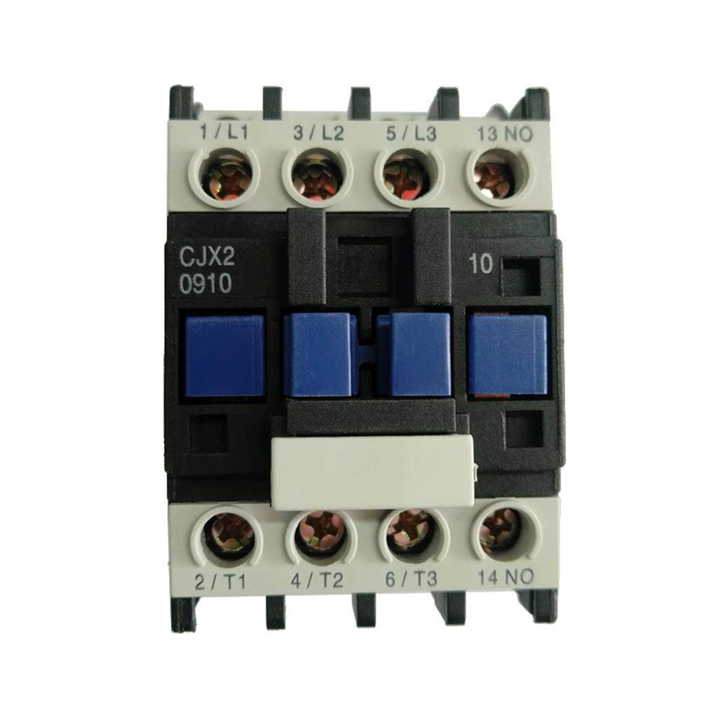 Miracle Shining CJX2-0910 AC Contactor Motor Starter Relay 35mm DIN Rail  Mounting 24V