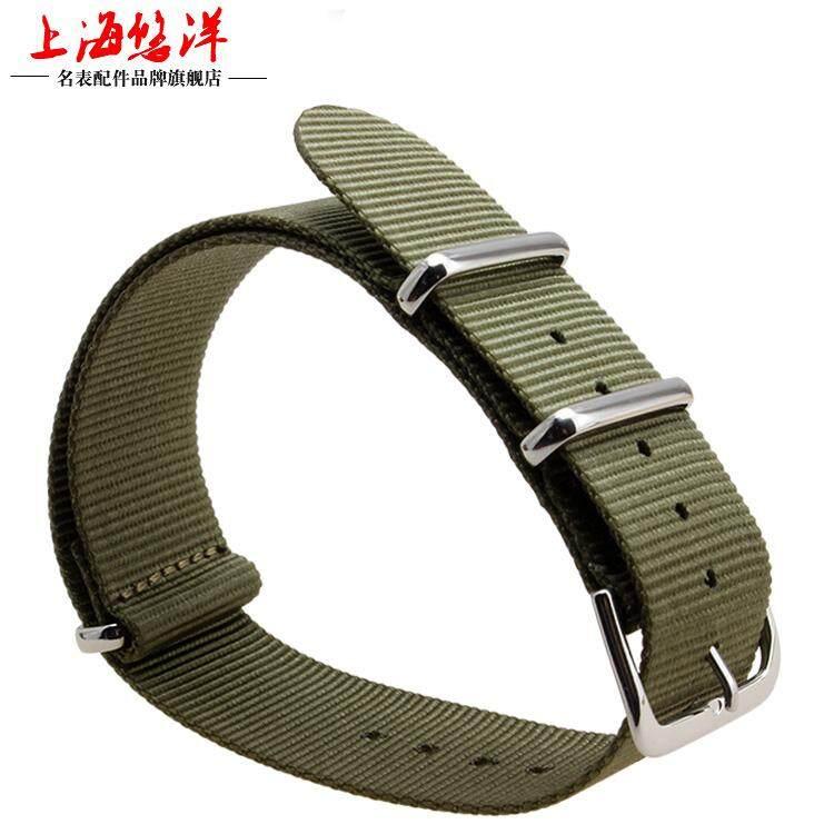 Penggunaan umum nilon Tali jam tangan cocok untuk Timex Luminox dw Tali jam tangan Pria dan wanita motif garis 16 18 20 22 24mm