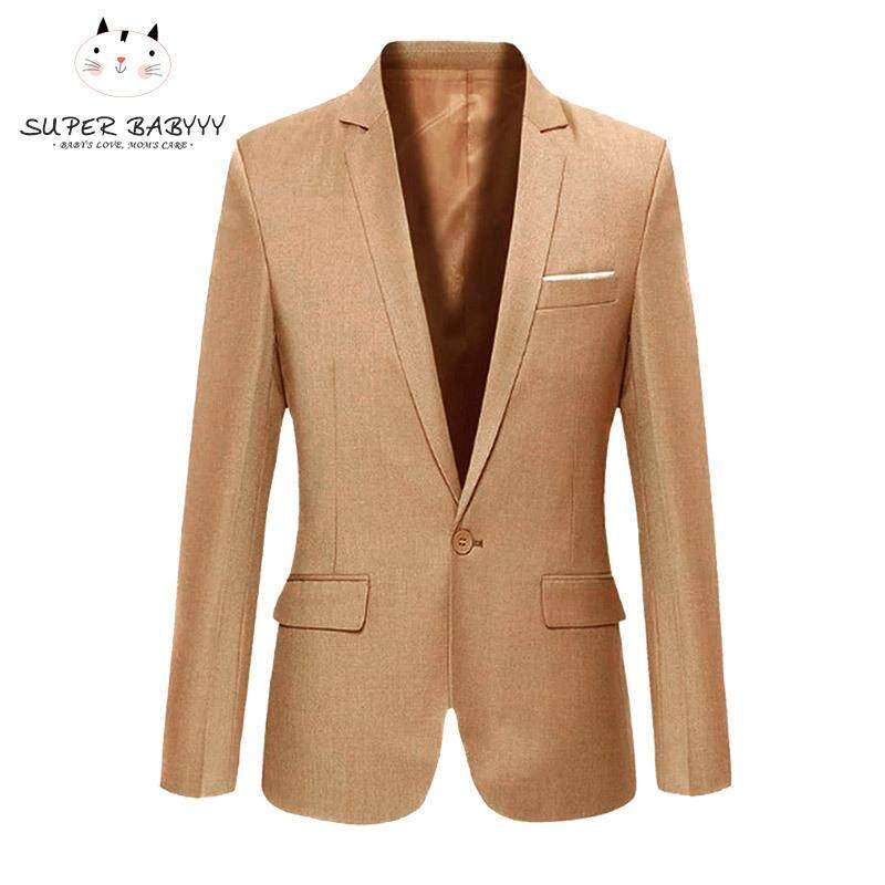 Sby Fashion Spring Autumn Men Blazer Long Sleeve Solid Color Slim Man Casual Thin Suit Jacket Office Blazers Plus Size S-6xl By Super Babyyy.
