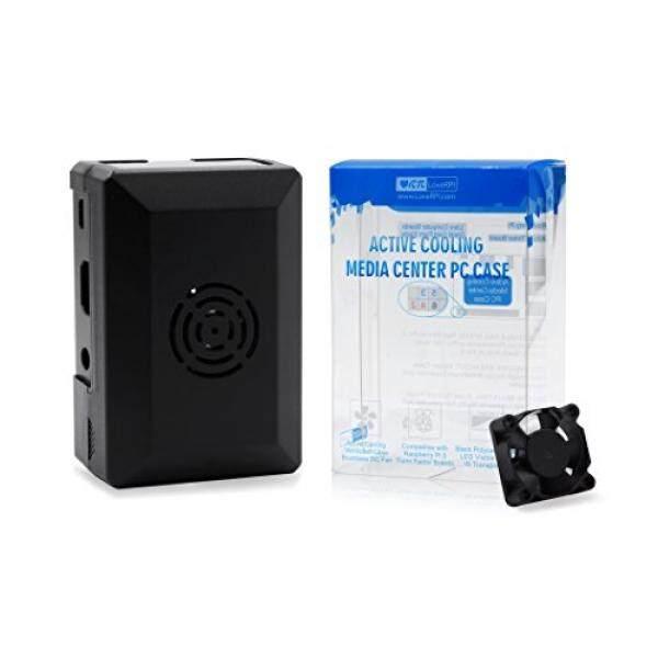 2018 LoveRPi Active Cooling Media Center PC Case for Raspberry Pi 3 Model B+, Libre Computer Board, ASUS Tinker Board (Black) - intl