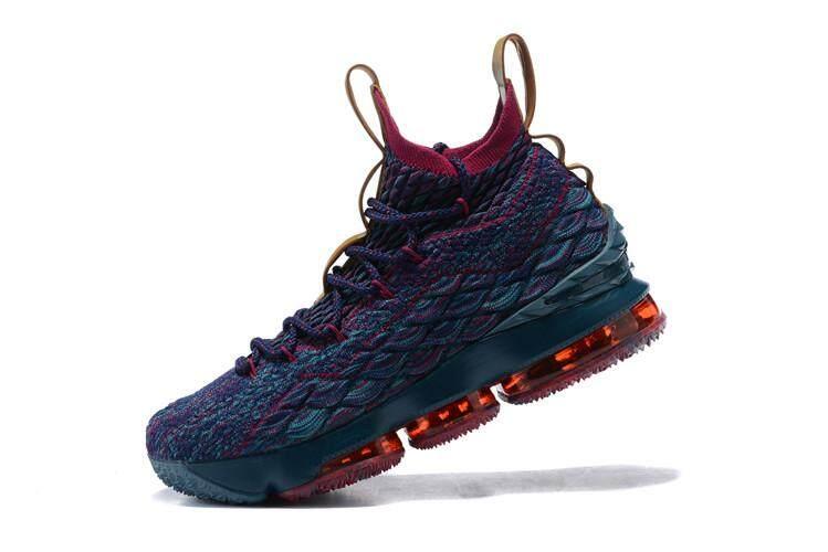 Nike Official LeBron XV LeBron 15 EP Mid Top MEN Basketaball Shoe  Multicolor Gold Global Sales e47b5e9ab3cc