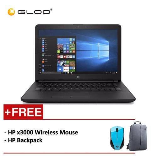 HP Notebook 14-bs580TU (i3-6006U, 4GB, 1TB, Intel® HD)(Black) [FREE] HP X3000 Wireless Mouse + HP Backpack Malaysia