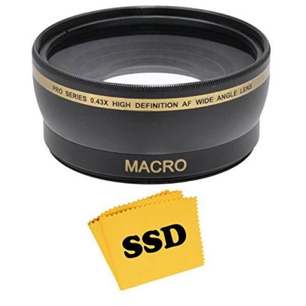 To SOD Off 52 Mm 0.43X Sudut Lebar Lensa HD dengan Makro untuk Nikon D5300 D5200 D5100 D5000 D3300 D3200 D3100 D3000 D7100 d7000 Kamera DSLR dan SSD Lensa Serat Mikro Kain Lap-Intl