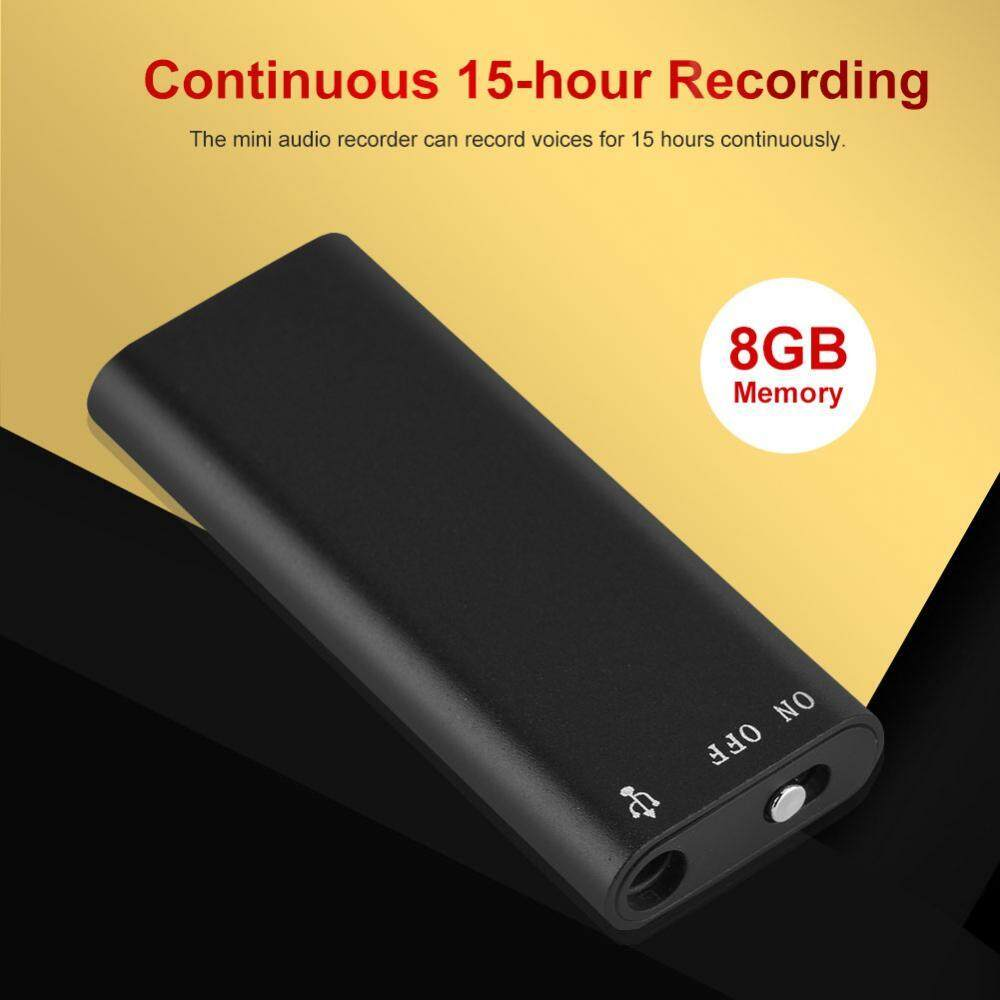 Digital Voice Recorder Pen 8GB Memory Voice Recorder 192Kbps Noise  Cancelling 15-hour Recording Mini Audio Recorder - intl