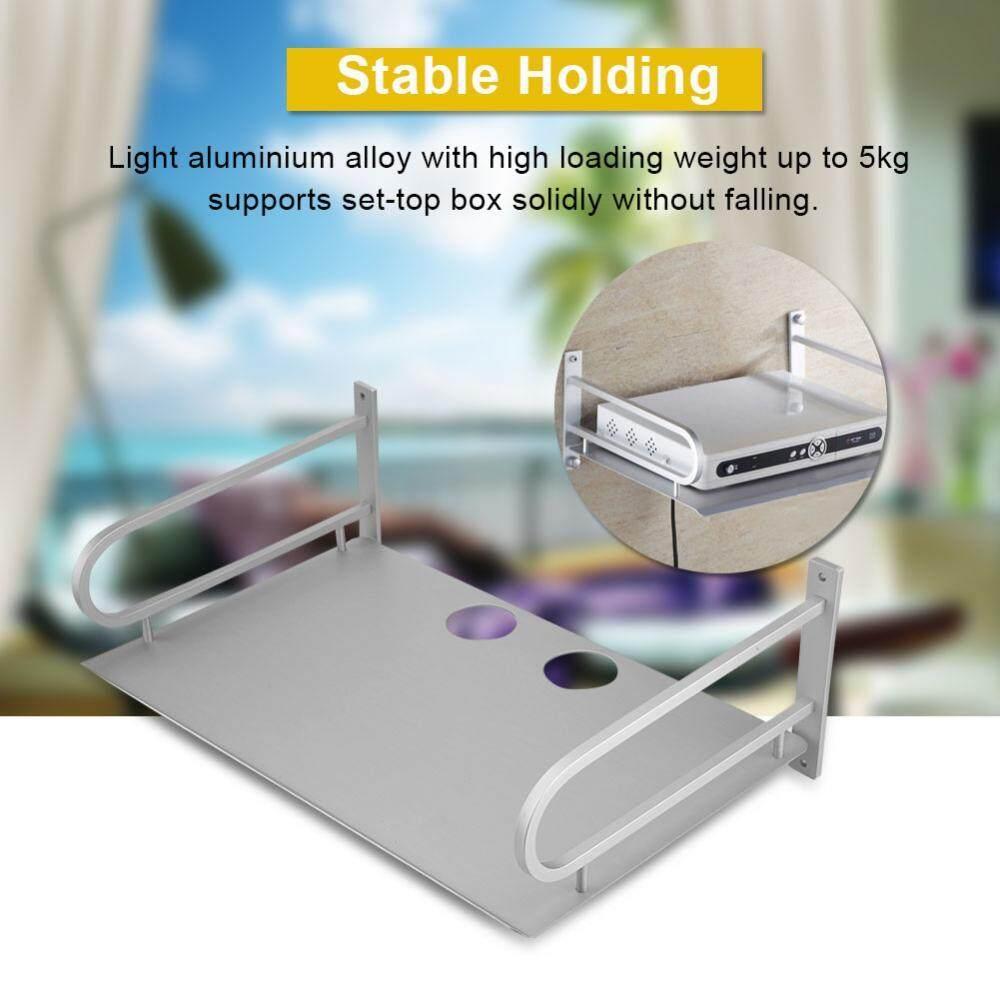 Router Storage Shelf Aluminium Alloy Set-top Box Bracket Solid 5KG Loading Weight Wall Mount Shelf Bracket - intl