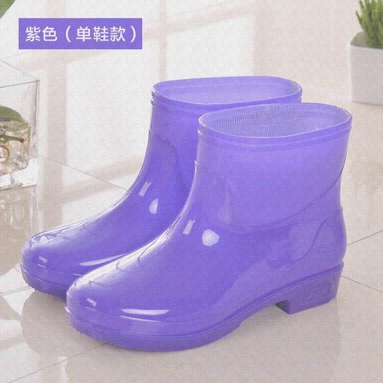 Musim gugur musim dingin model wanita sepatu boots hujan Tambah beludru  Penghangat Tahan Air wanita sepatu 891f348477