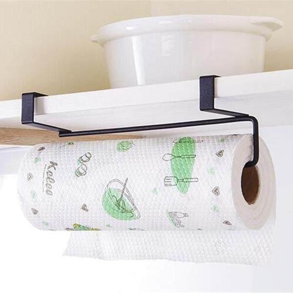Wadah Tisu Dapur Gantung Toilet Kamar Mandi Roll Tempat Tisu Toilet Rak Dapur Pintu Lemari Penahan Gantungan Putih-Intl By Sunnny2015.