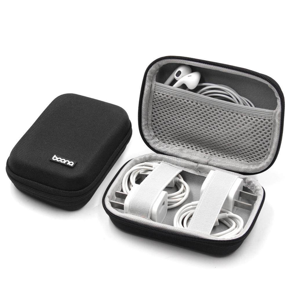 Kobwa Portable Travel Carrying Headphones Case Hard Eva Case Earphone Storage Box Usb Cable Organizer - Intl By Kobwa Direct.
