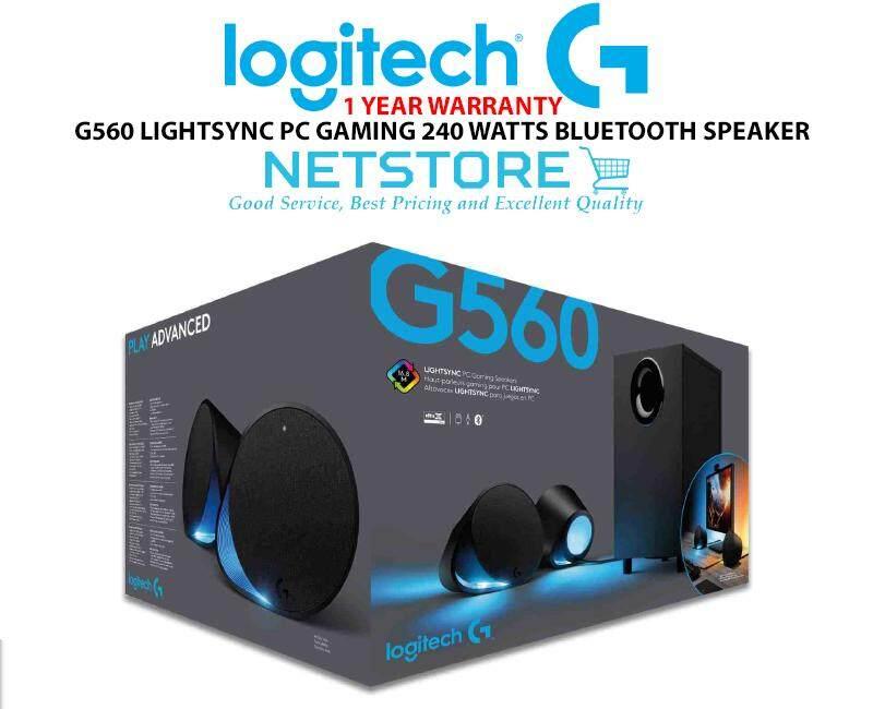 Review Logitech G560 Lightsync Gaming Speakers 980 001304