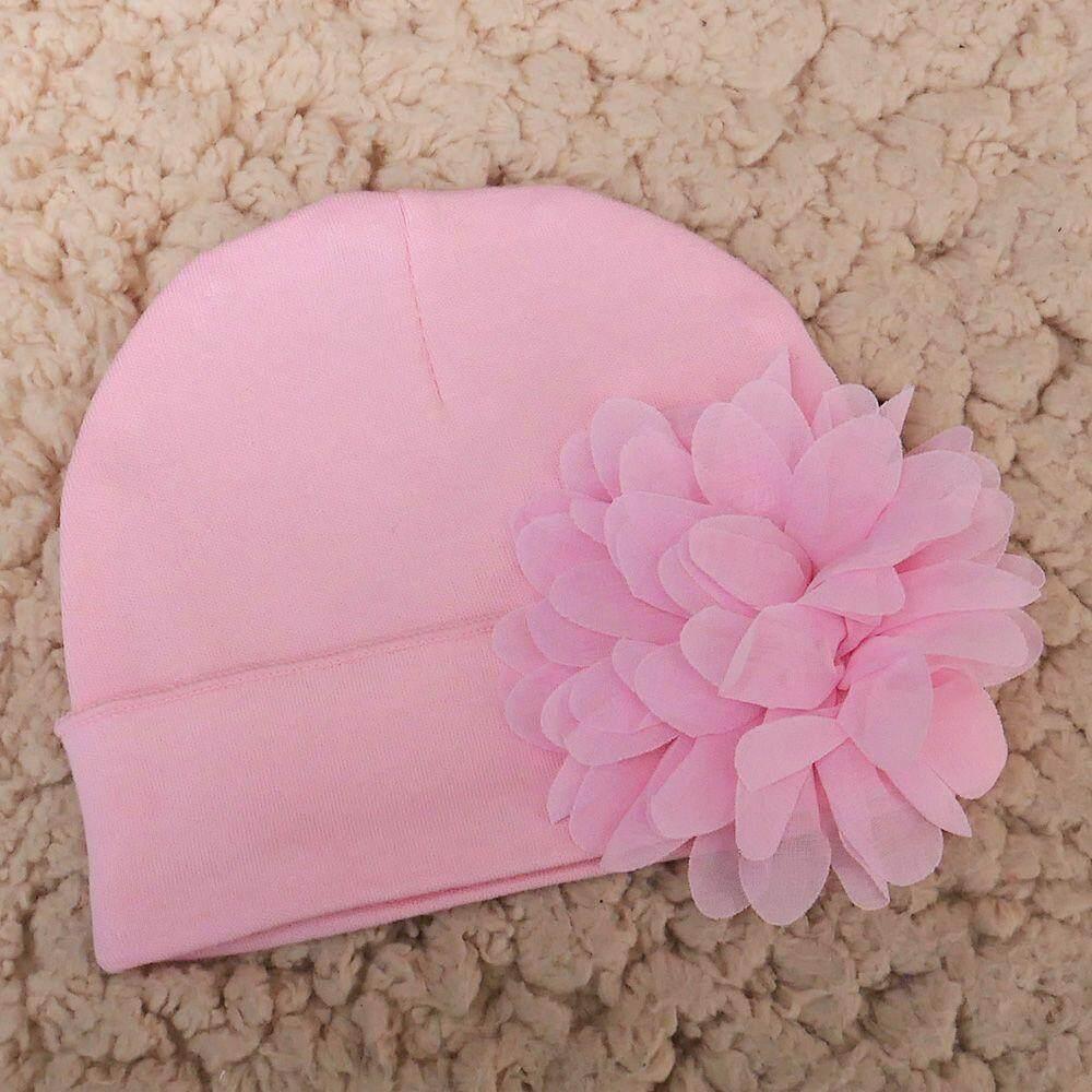 107c2ee9d3d9 Newborn Baby Girls Flower Hat Cotton Soft Hats Caps Gift - intl
