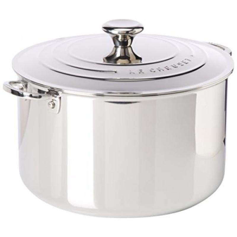 Le Creuset Tri-Ply Stainless Steel Stockpot with Lid, 11-Quart - intl Singapore