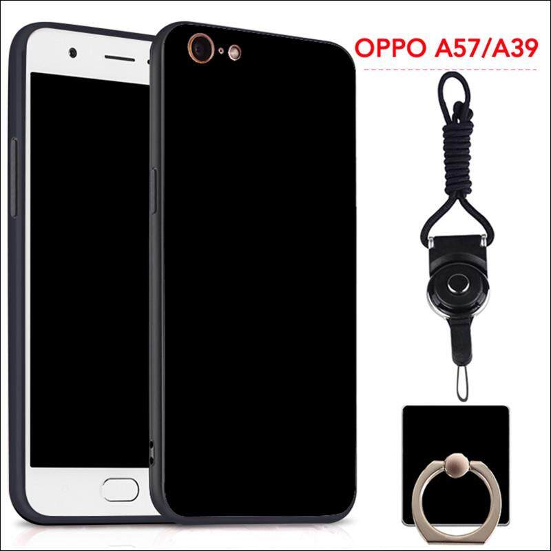 For OPPO A57/A39 Silicon Soft Ruber Case (Black)