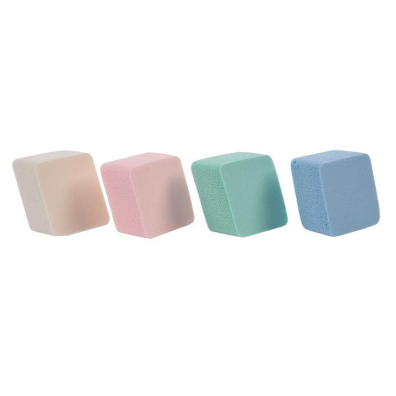 Foundation Blender Berbahan Spons Pencampuran Gumpalan untuk Bedak Mulus Halus Peralatan Make Up 1 Pack 4