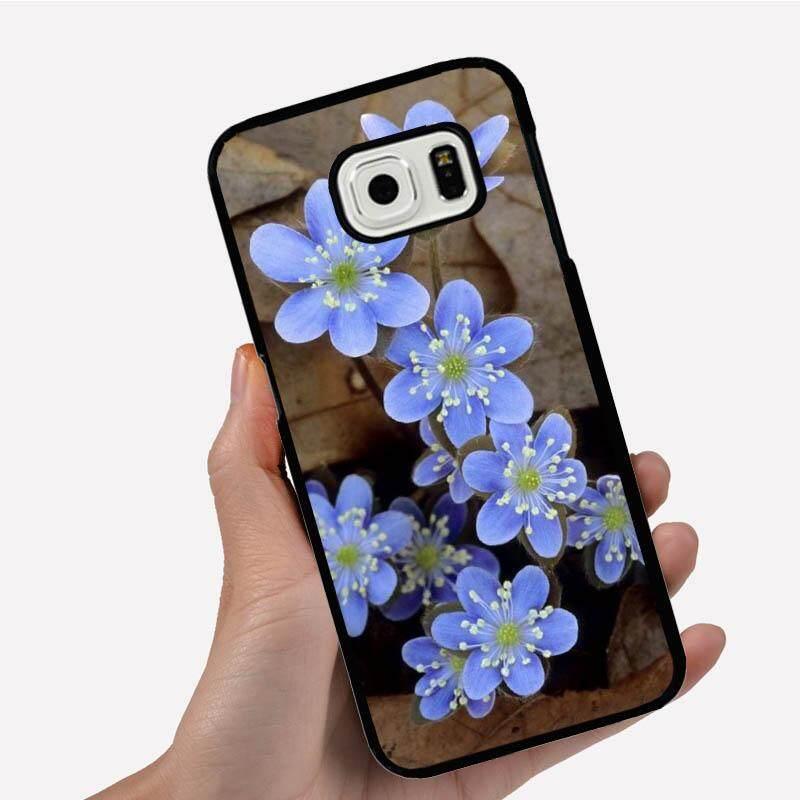 Casing Ponsel untuk Samsung GALAXY Catatan 2 (N7100) dengan Banyak Biru Bunga Kecil Gambar