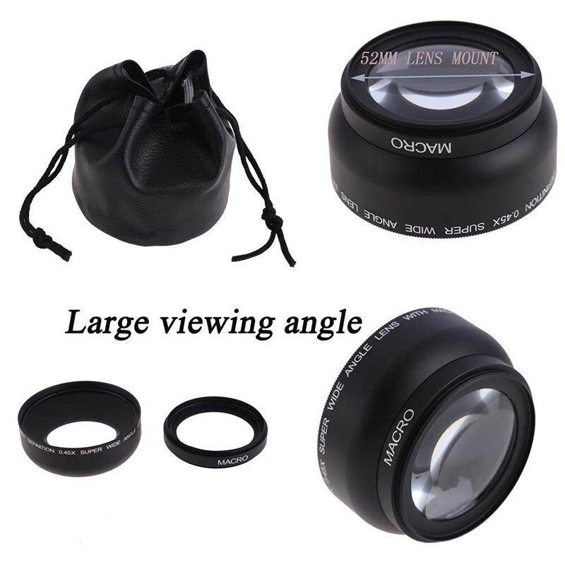 0.45X 52mm HighDefinition Super Wide Angle & Macro Lens For Canon Nikon Camera