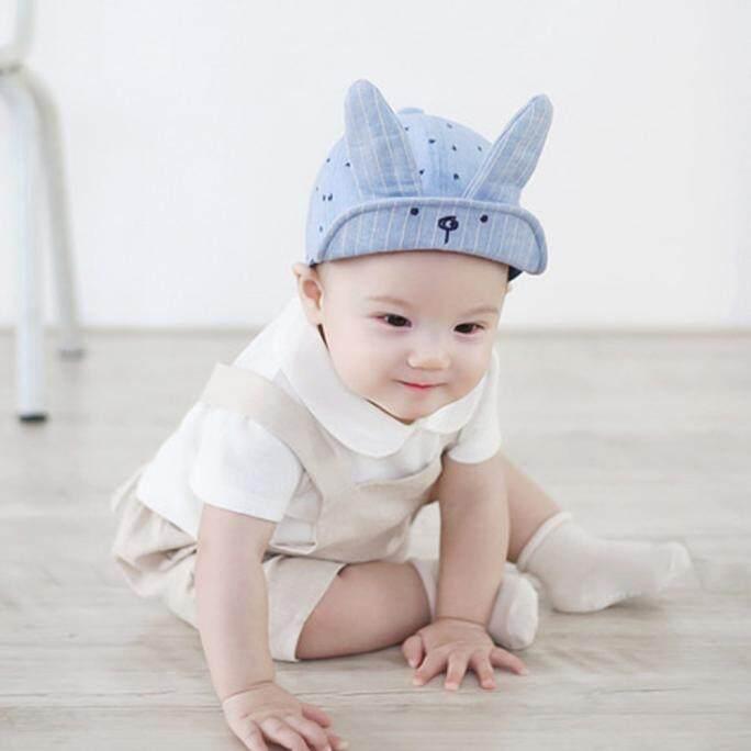 Kids Baby Bunny Rabbit Visor Baseball Cap Casquette Cotton Peaked Hat Blue