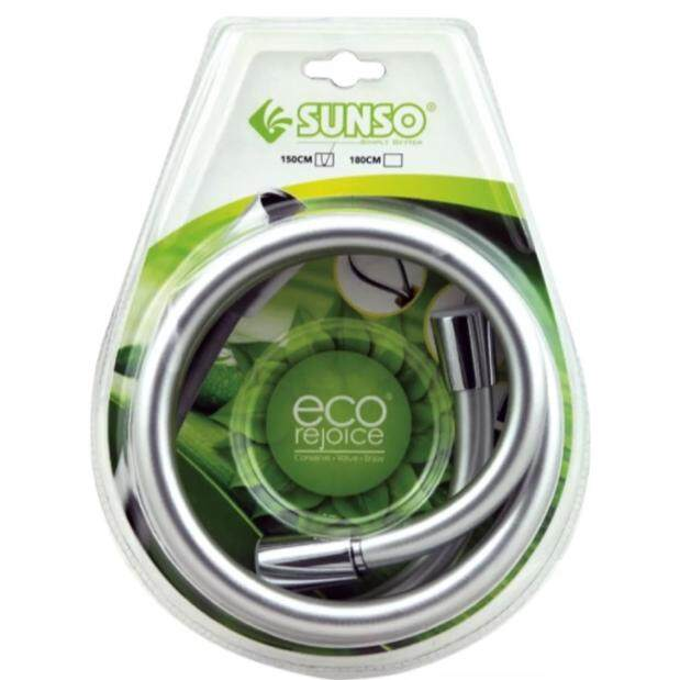 SUNSO CHROME DOUBLE BUCKLE STAINLESS STEEL FLEXIBLE HOSE (MADE IN TAIWAN)