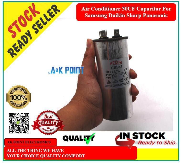 Air Conditioner 50UF Capacitor For Samsung Daikin Sharp Panasonic