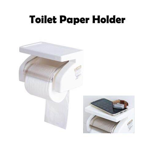 Toilet Paper Holder - Wall Mounted Plastic Waterproof Toilet Paper Holder Tissue Roll Stand Box Holder Bathroom Tool