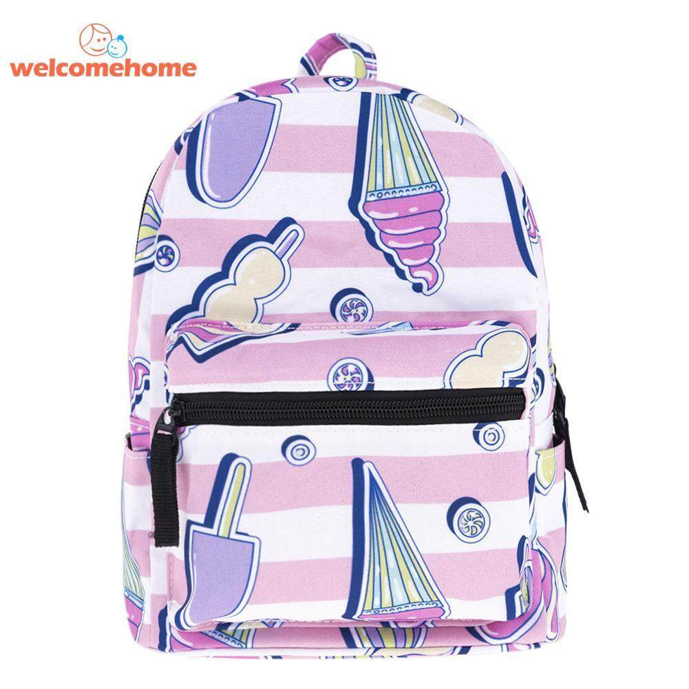 Cute Women 3D Digital Ice-Cream Print Backpacks Girl Travel Mini Schoolbags 7fe33290e6bf1