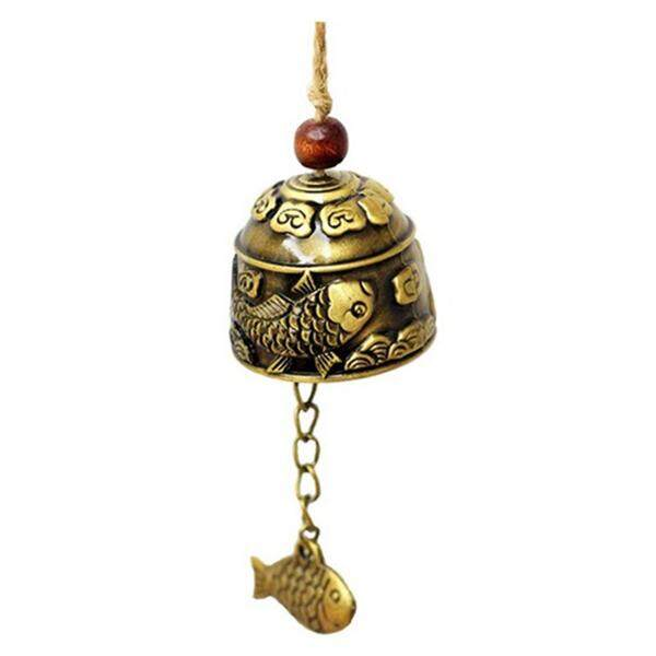 1Pc Chinese Traditional Dragon or Fish Feng Shui Bell Blessing Fortune Hanging Wind Chime - intl