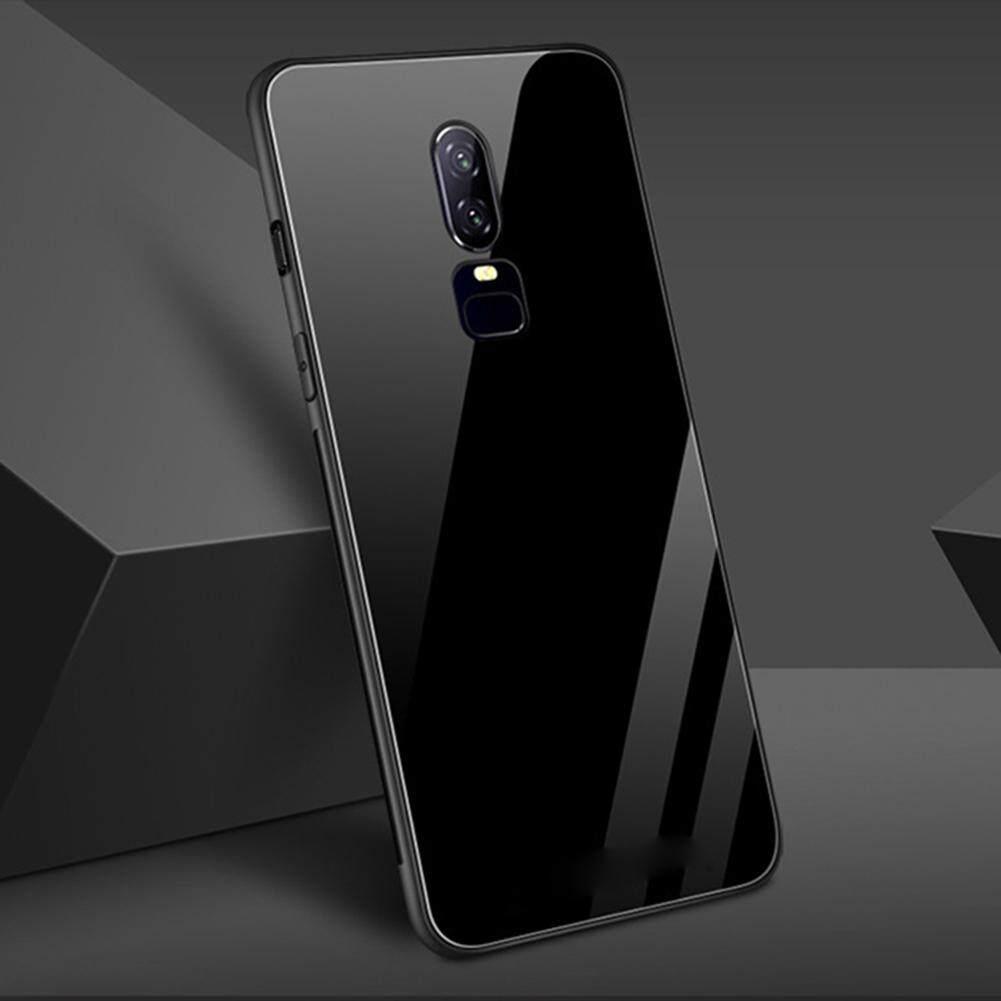 YBC untuk OnePlus 6 Casing Ponsel Penuh Penutup Pelindung TPU + Kaca Antigores Shockproof Case S