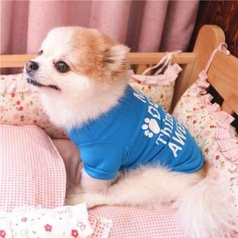 Pencarian Termurah 2018 Summer Pet Dog Clothes Cotton Cute Letter