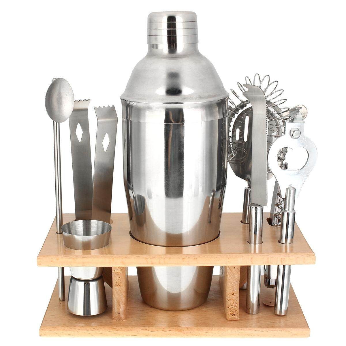 Stainless Steel Cocktail Shakers Mixer Drink Bartender Martini Bar Set Tools Kit750ml By Ferry.