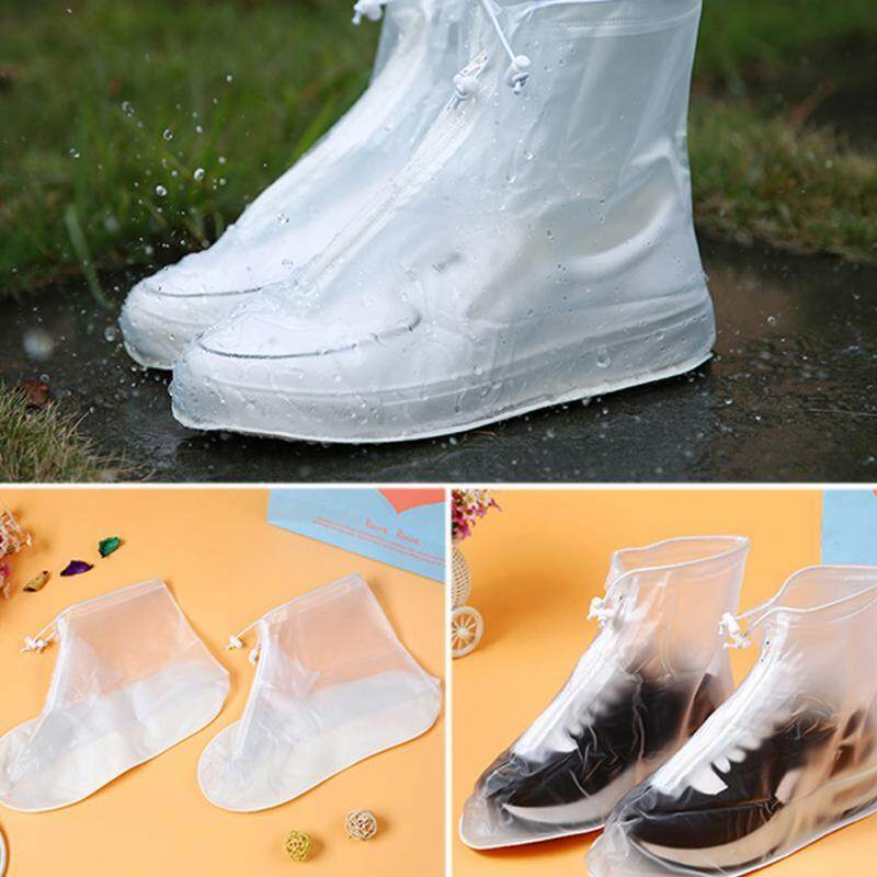 (1 Pair) Anti-slip Waterproof Rain Boot Shoes Cover Overshoes with Elastic String