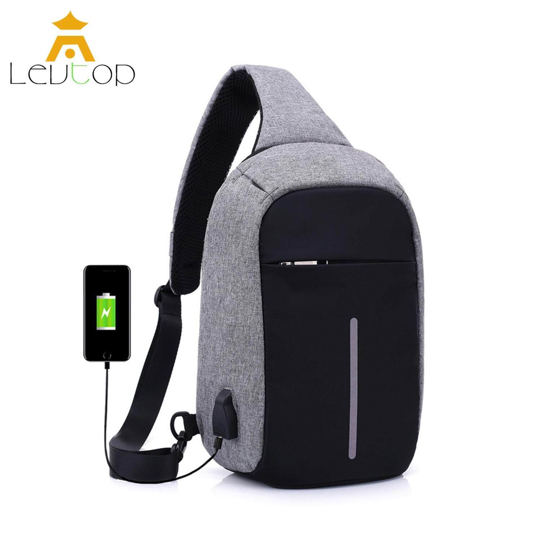 c54917f19 LEVTOP Men Crossbody Bags Sling Bags Chest Shoulder Bags Messenger Travel  Bags USB Charging Anti Theft
