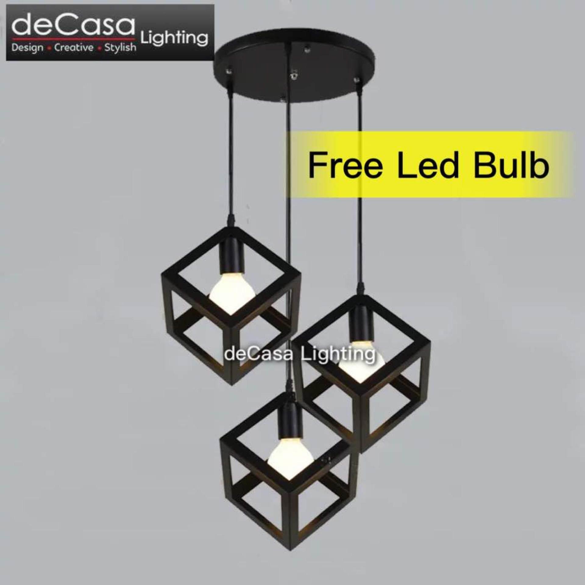 Scandinavian Loft Lamps Lighting home led steel deco dinner lights spot art room deco kitchen id