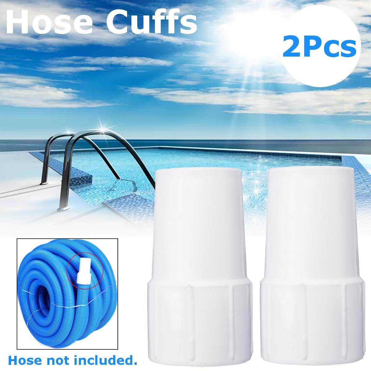 Carpet Cleaning Vacuum Hose SWIVEL Cuffs / Connectors 1.5 inches White Cuffs 2 pcs