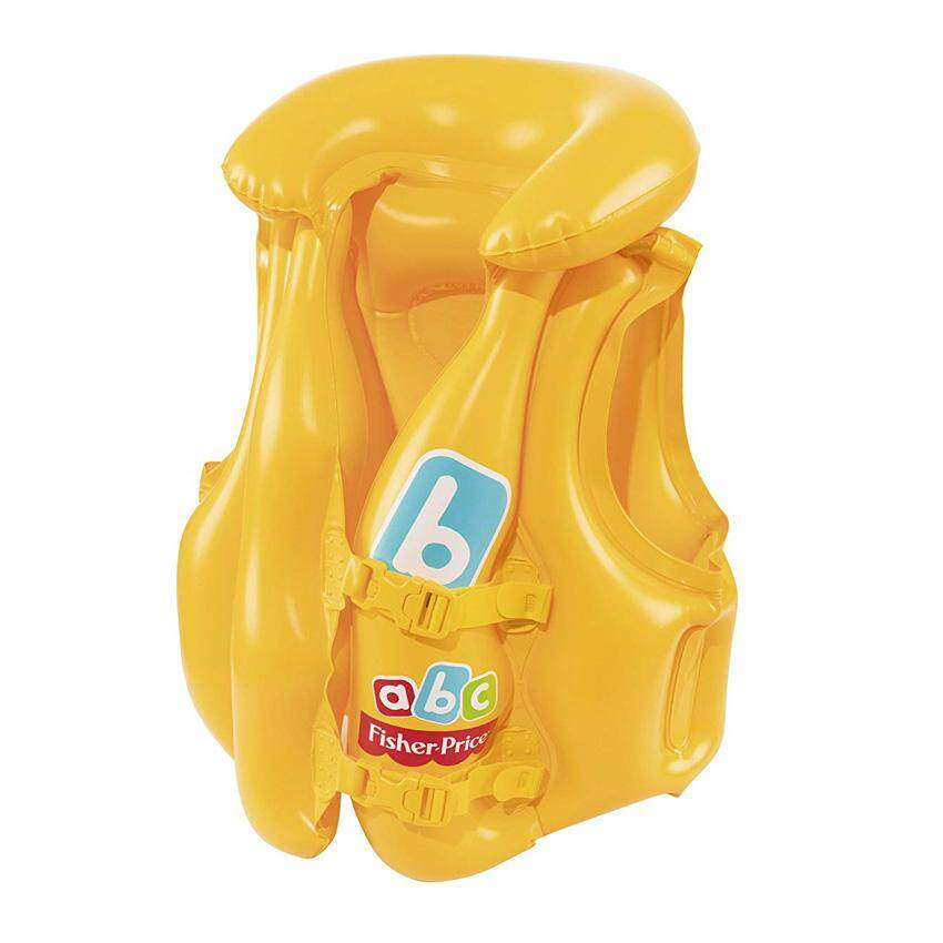 Bestway 93515 Fisher Price Swim Safe Baby Vest Jacket 51cm x 46cm Step B Premium Swim Yellow